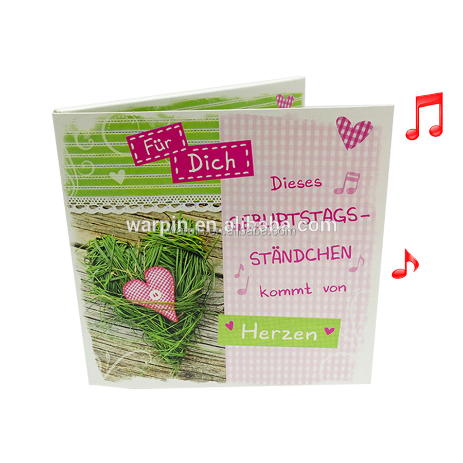 Hot Selling Music Greeting Card / Sound Recording Module For Card