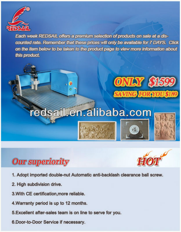 Factory price Promotion small engraving cnc router Redsail RS-4060 on sale