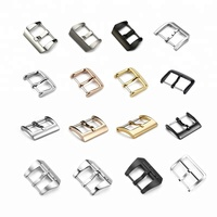 10mm to 26mm Custom Western Metal Belt Stainless Steel Watch Band Strap Deployment Clasp 16mm 22mm 20mm 18mm Watch Pin Buckles