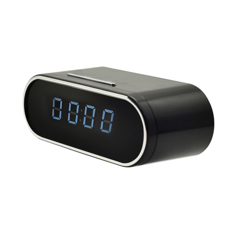 Black Mini 1080P HD Wireless <strong>WIFI</strong> P2P IP Alarm Clock Camera with Night Vision