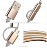 Hot sale USB Cable Alloy Data Charging cable Nylon Braid Micro USB Cable for iphone