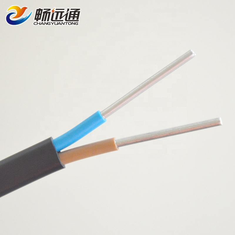 6mm 2 Core Aluminum PVC Insulated Sheath Flat Wires And Cables <strong>Electrics</strong>