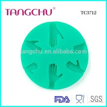 Hands Shape Green Silicone Fondant Cake Decoration Mold