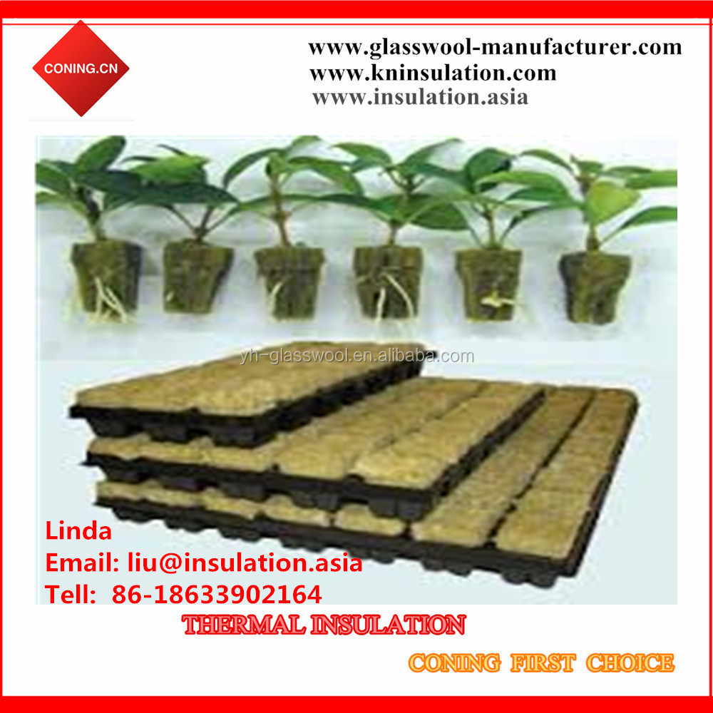 Agriculture Mineral Wool , Hydroponic Rockwool cubes for growing
