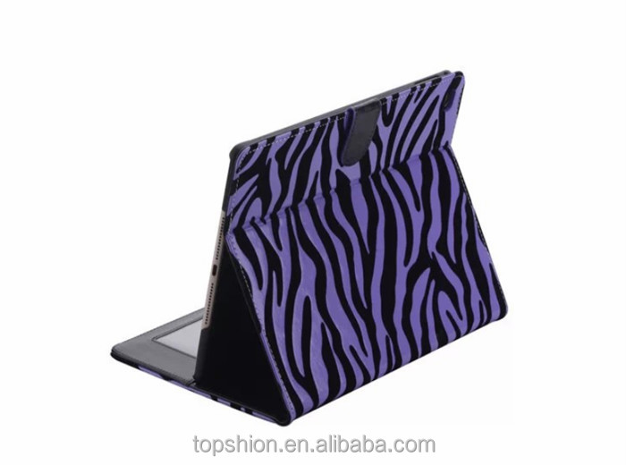 New Arrival For iPad Air 2 Zebra Leather Case, Cover for iPad 6