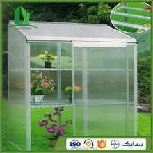 Polycarbonate commercial used greenhouse sale for flowers