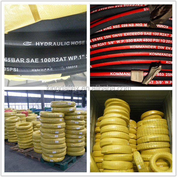 SAE 100R1AT Automobile Used High Temperature Flexible Hydraulic Rubber Hoses
