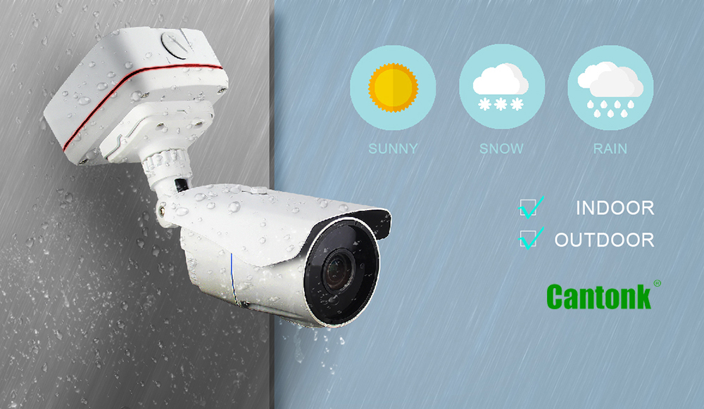 Hot waterproof bullet housing 2MP 1080P Sony starvis WDR starlight POE SD IP Camera network cctv camera IMX307+Hi3516C Metal