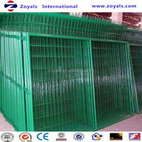 Manufacturer ISO9001 pvc coated welded mesh wire fencing 8 ft