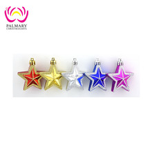 wholesale 8cm Plastic Five Pointed Star david decorations, christmas hanging decoration, ceramic decoration