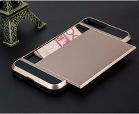 Wholesale Price Mobile Phone Case Card pocket Cover for iPhone 7 7s & Plus