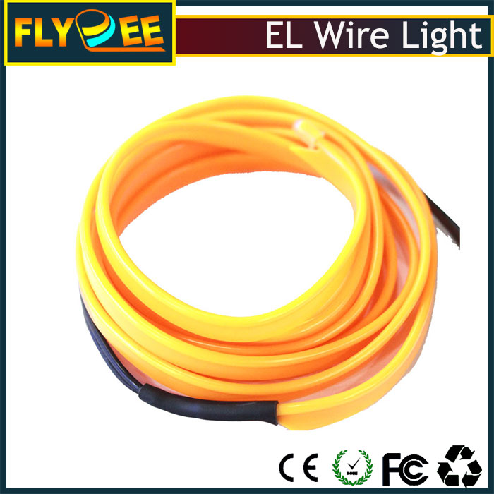 China remote control el wire manufacturer sideline shape EL neon light wire with cheap price