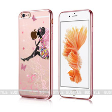 Printing case Rose Golden transparent soft silicone case for mobile phone for iphone 6 7 6s plus 5 bumper for mobile phone
