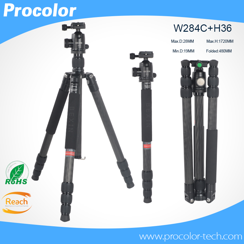 Travel products portable professional carbon fiber camera tripod stand