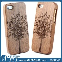 For Apple iPhone 5/ 5G/ 5S Solid Wood Sets Wooden Hard Case Tree Design