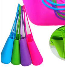 New Candy Silicone Shoulder Purse Satchel Bag Silicone Tote Bag Fashion Silicone Shopping Bag