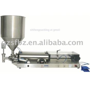 semi automatic pneumatic cosmetic filling machine with hopper