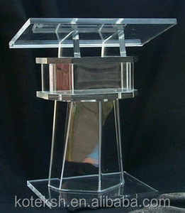 Beautiful Easy Cheap Clear Detachable Acrylic Podium Pulpit Lectern