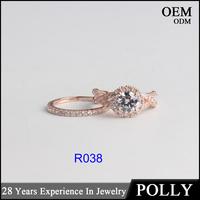 Custom 10K solid rose white yellow gold jewelry AAAAA CZ fashion rings