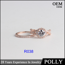 Custom 10K solid rose white yellow gold jewelry AAAAA CZ fashion rings
