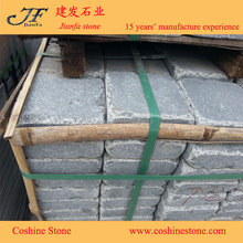 Driveway tumbled stone brick china G654 grey granite paving stone