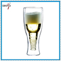 New Design Double Wall Pyrex Glass Tea Cold Beer Drink Cup