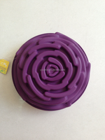 custom silicone rose cake mold