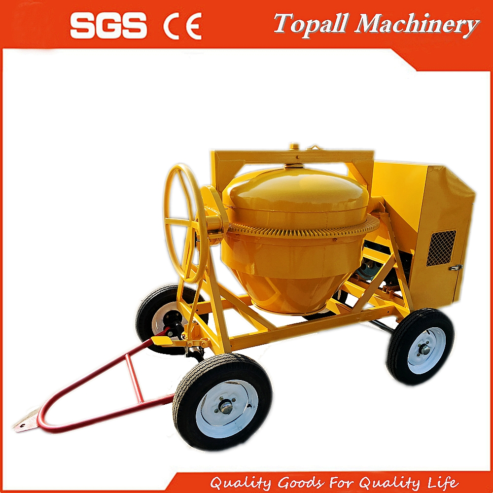 Topall TDCM500 Kipor 178F Engine Direct Drive Portable Cement Mixer, 10/7 Cft Capacity Steel Drum