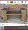 Natural Basalt Table and Bench stone building way pavements
