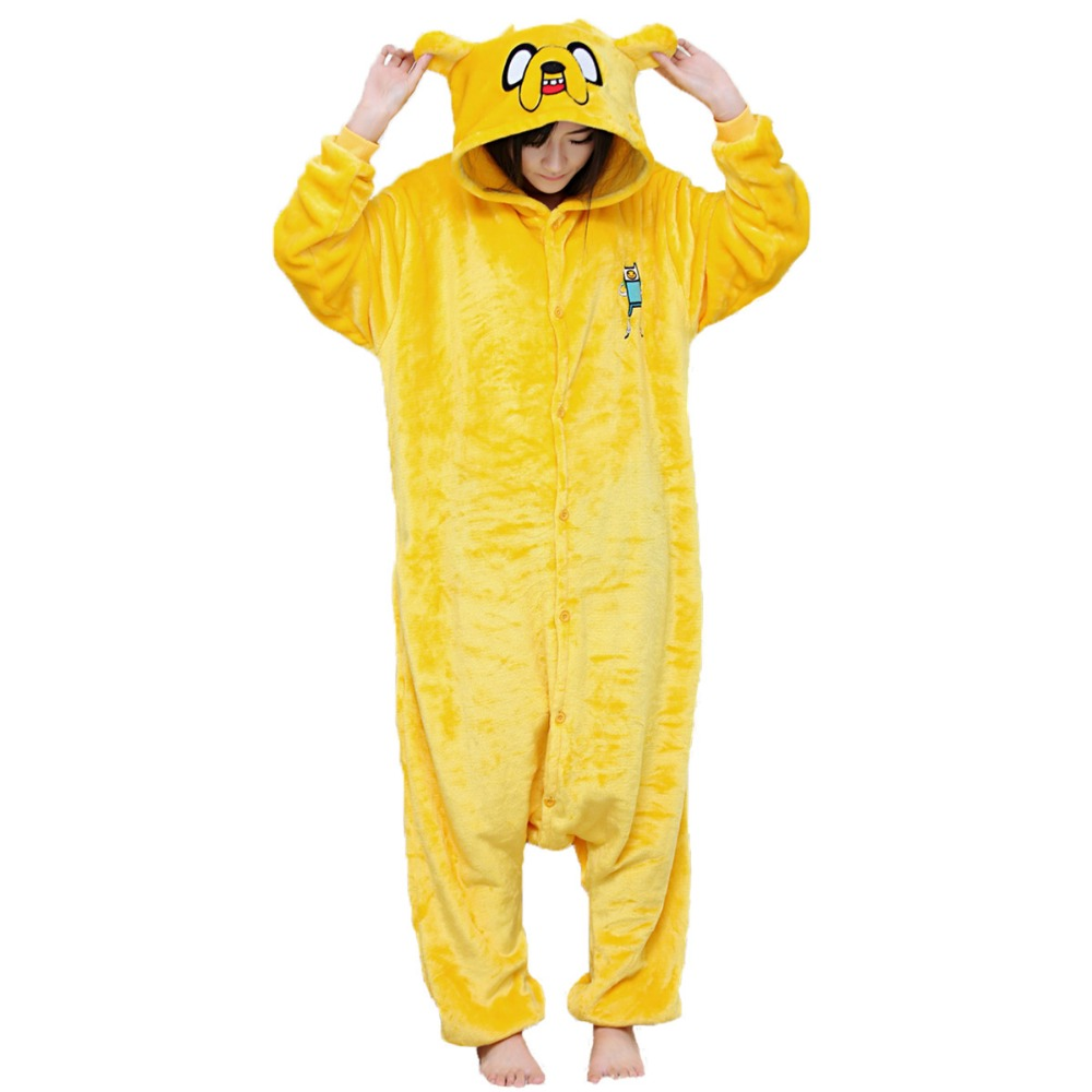 Wholesale cheap flannel pyjamas unisex sleepwear adult yellow pajamas for sale