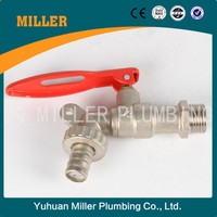 "3/4""X1"" Yuhuan valve Brass Tap with lock for India market Miller Plumbing ML-3002"