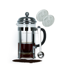 2018 New Style Copper stainless steel and glass Tea coffee press mug Maker French Press