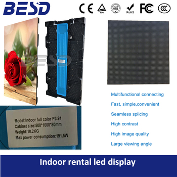 Factory price HD-resolution Indoor rental led display P3.91& P4.81 with Adjustable angle fast lock for DJ used