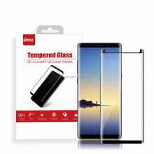 mobile phone accessories ultra-thin oleophobic coating full cover tempered glass screen protector for Samsung galaxy note8