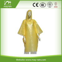 Promotional Recyclable Disposable Individual Pack PE Rain Poncho