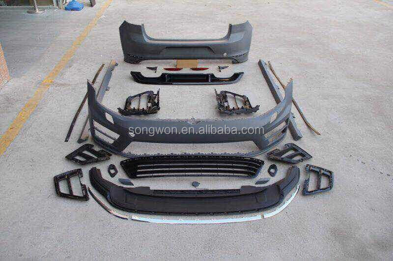 modify vw golf 7 to R-line PP materail full kits