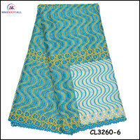 CL3260-6 high quality teal guipure embroidery lace for wedding and party