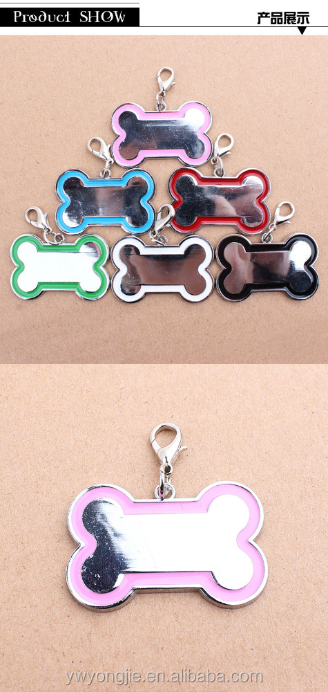 Stainless Steel Dog Tag Bone Shape Dog Names For Male Dogs
