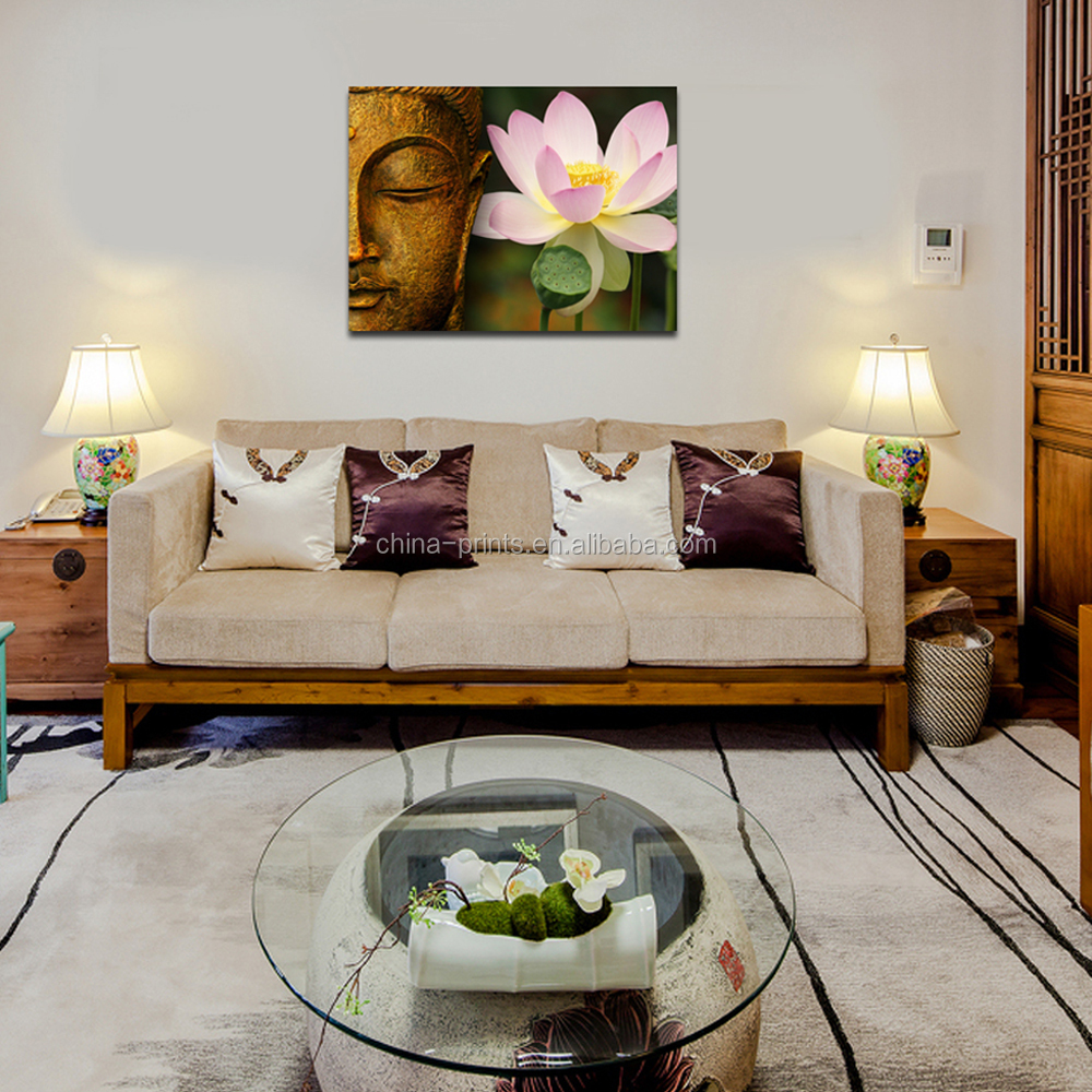 Buddha Canvas Printing Art/Buddha Wall Picture for Hang/Wholesale Home Decor Artwork
