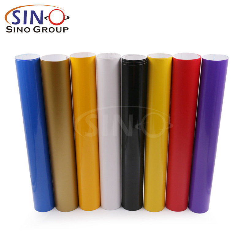 SINOVINYL Advertising Poster Materials Opaque Self Adhesive Color PVC Vinyl Sticker For Cutting