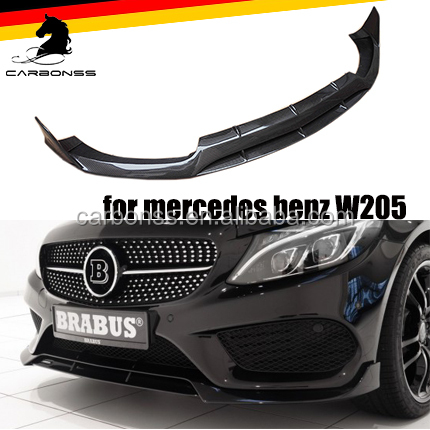 CARBON FIBER AUTO PARTS FOR MERCEDES BENZ FRONT BUMPER LIP SPOILER 2014+