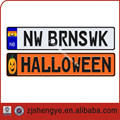 Euro reflective license aluminum number plate punching