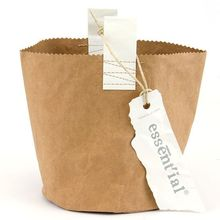 round washable paper bag