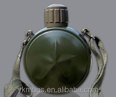 800ML Double wall vacuum stainless steel military water bottle / Military canteen / army bottle