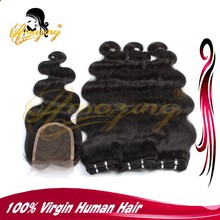 Best selling wholesale and retail hair bundle with closure body wave