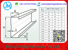 Trade assurance China Galvanized Steel U-section Cold Roll Forming Equipment For Metal Roof Frame