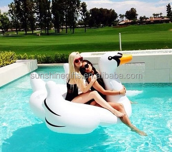 Summer Giant Inflatable Swan Lilo Lounger Rubber Ring Toy Inflatable Pool Float