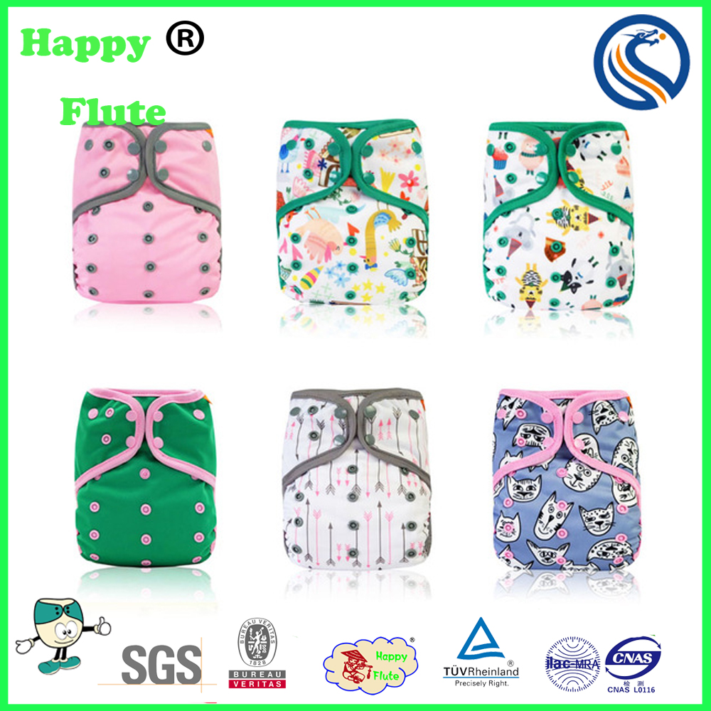 2017 new Happy flute one size all in AI2 baby reusable bamboo cloth diaper factory