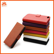 hot selling wallet genuine leather case for iphone 5
