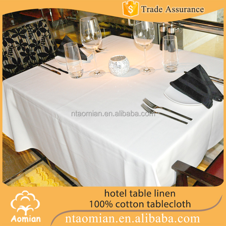 Cotton / Polycotton Roll Tablecloth Fabric To Make Tablecloths White